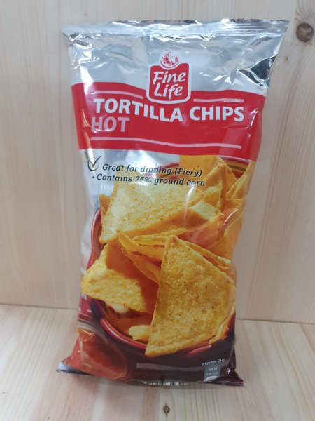 Fine Line Tortilla Chips Hot (scharf) 200g