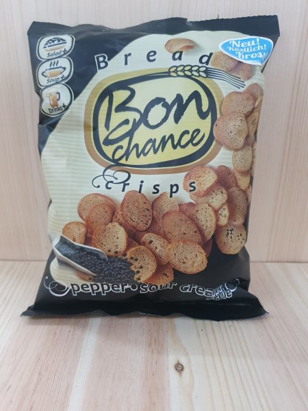 BON CHANCE Brotchips So.Cr.&Pep. 120g BT