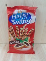 HAPPY SWING Waffelröllchen Kakao 150g VP