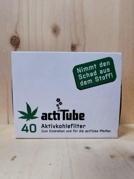 actiTube 8mm 40 Aktivkohlefilter