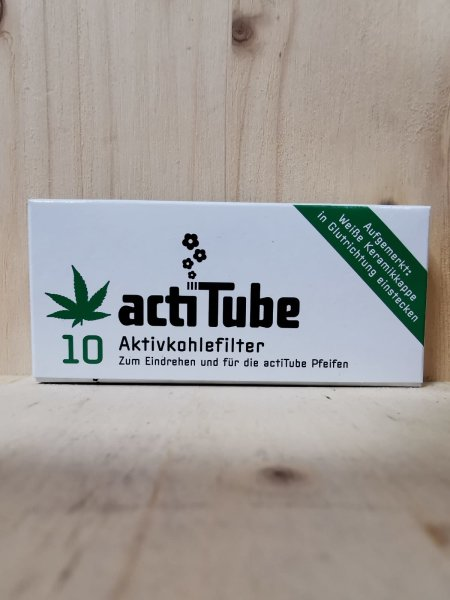 actiTube 8mm 10 Aktivkohlefilter