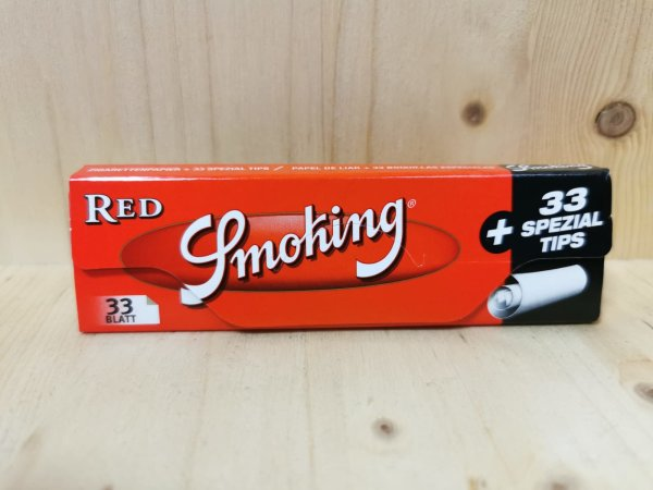 Smoking Red KS 33 Papers + 33 Tipps