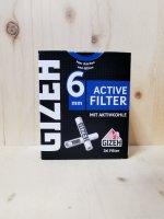 Gizeh Aktivkohlefilter 6mm 34 Stück