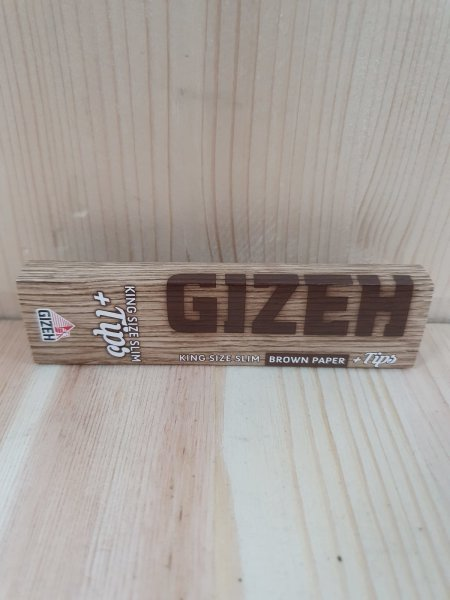 Gizeh Longpapers Brown KS Slim 34 leaves + Tips