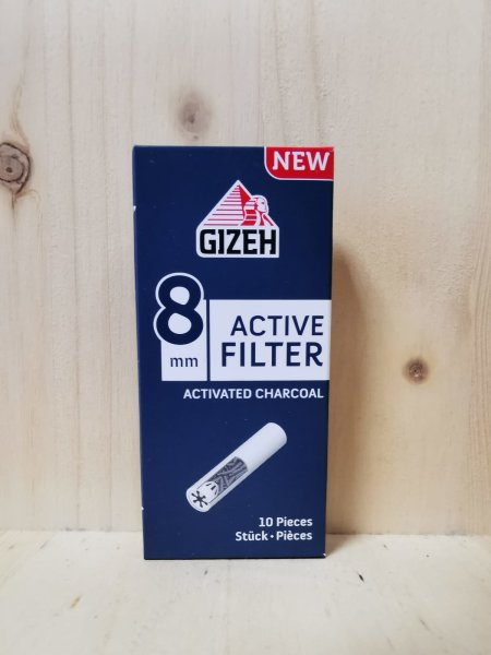 Gizeh Aktivkohlefilter 8mm 10 Stück